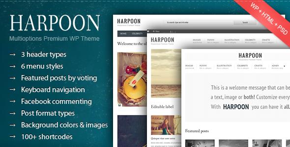 Harpoon – Multioptions Responsive WP Theme
