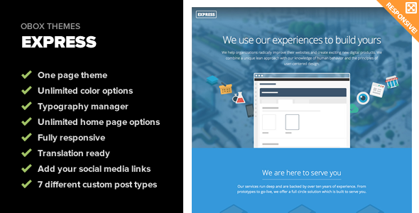 Express – Responsive One Page WordPress Theme