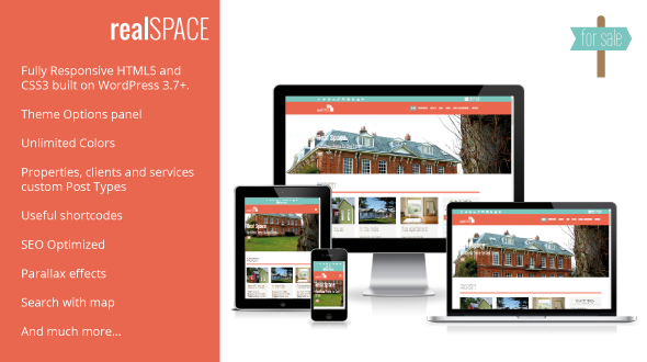 RealSpace – Real Estate WordPress Responsive & Parallax Theme