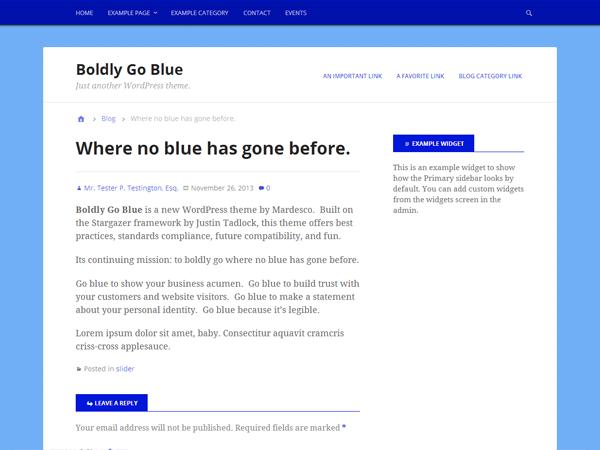 Boldly Go Blue