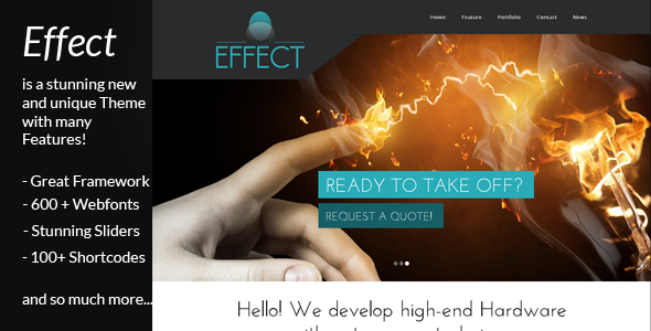 Effect – a unique WordPress business theme