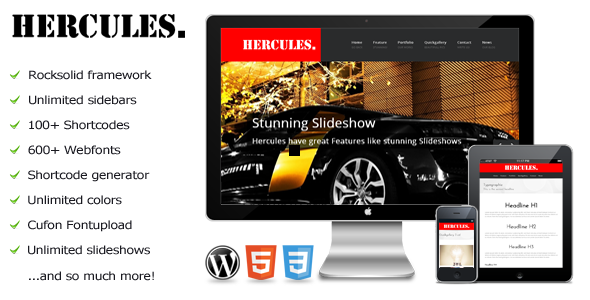 Hercules – a responsive WordPress theme