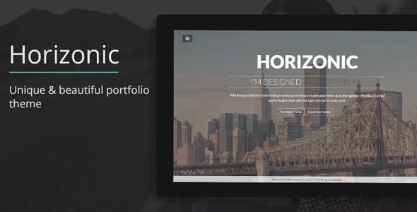 Horizonic – Onepage WordPress Portfolio Theme