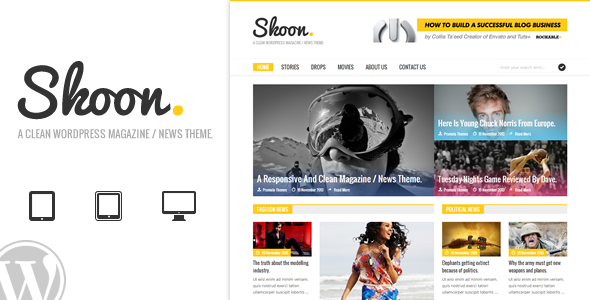 Skoon – WordPress Magazine / News Theme