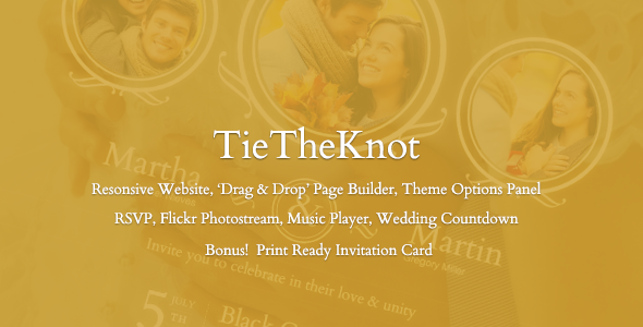 TieTheKnot – Responsive Wedding Theme