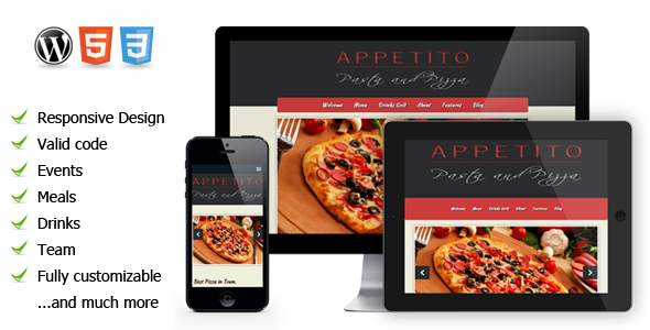 Appetito – a WordPress restaurant theme