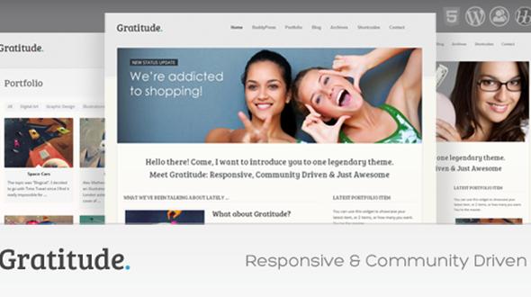 Gratitude: BuddyPress & Responsive WordPress Theme