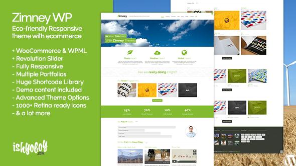 Zimney WP – Eco-friendly Responsive theme with ecommerce
