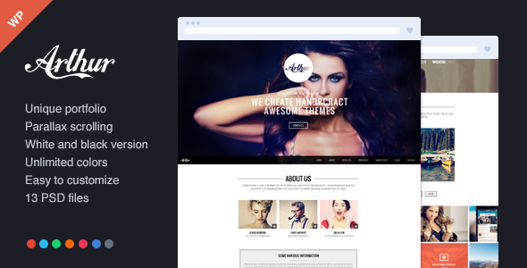 Arthur – Responsive, One Page and Parallax