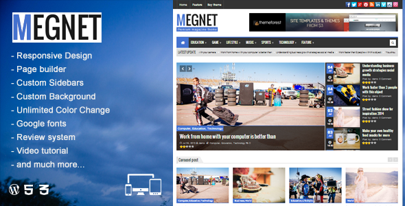 Megnet – WordPress Magazine theme