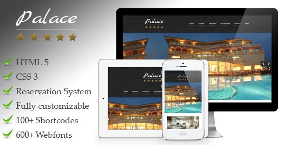 Palace – a premium responsive WordPress hotel theme