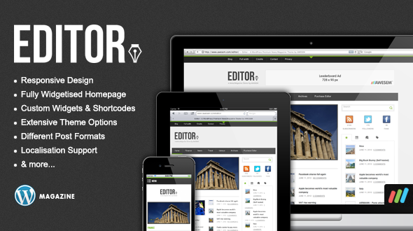 Editor – Responsive Premium WordPress News / Magazine Theme