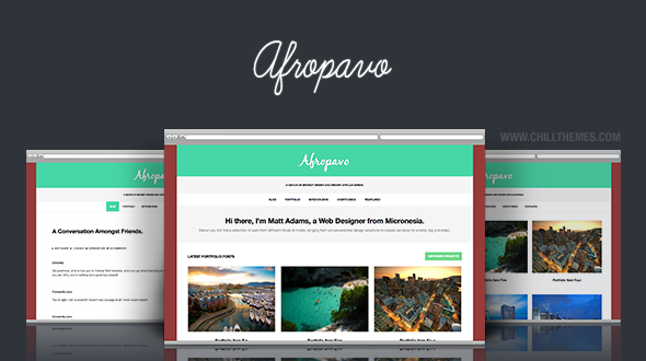 Afropavo WordPress Theme