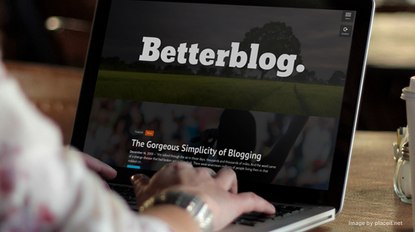Betterblog: Touch-Ready WordPress Theme