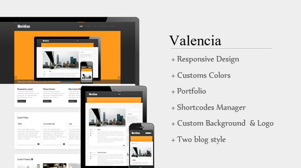 Valencia Responsive WordPress Theme