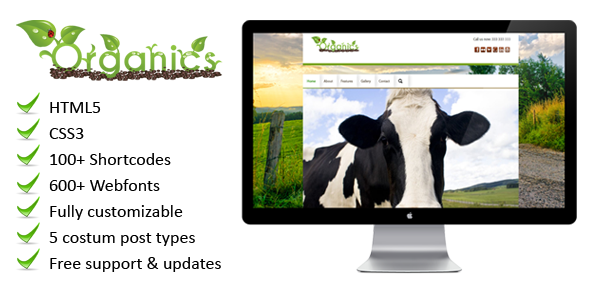 Organics – a beautiful eco WordPress theme