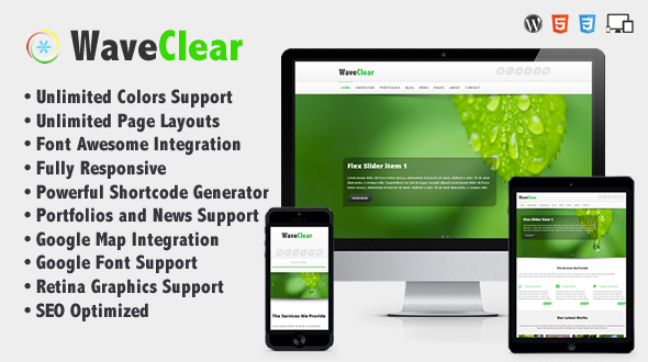 WaveClear – Responsive Multipurpose Creative Theme