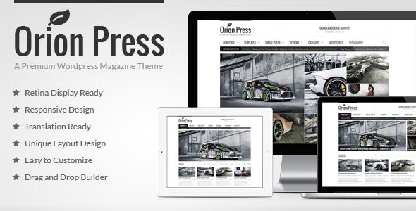 Orion Press – Retina and Responsive Magazine Theme