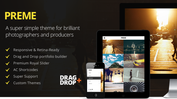 Preme – Fullscreen Responsive Portfolio WordPress Theme
