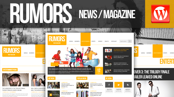 Rumors News/Magazine Responsive WordPress Theme