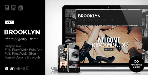 Brooklyn – Creative Responsive WordPress Theme