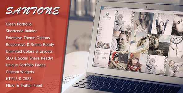 Santone – Clean Portfolio & Photography WP Theme