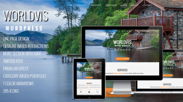 WordVis – WordPress Responsive One Page Parallax Theme