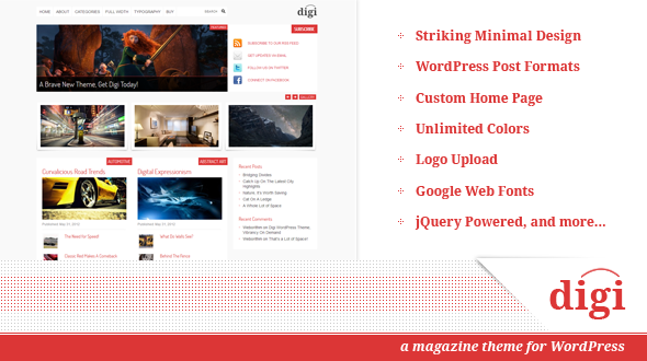 Digi, Blog and Magazine Theme for WordPress