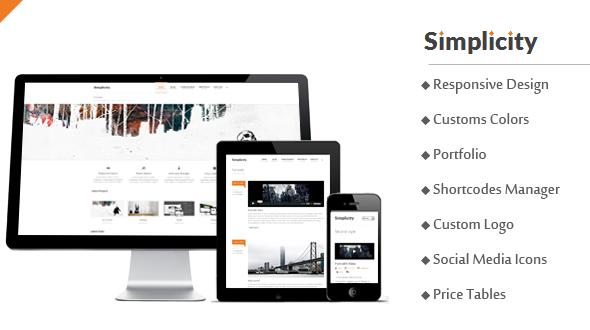 Simplicity – Responsive Business/Portfolio WordPress Theme