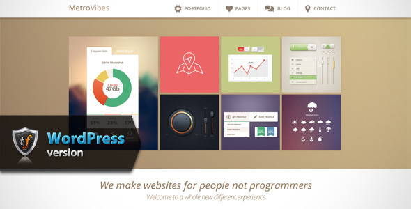 Metro Vibes – Showcase WordPress Theme