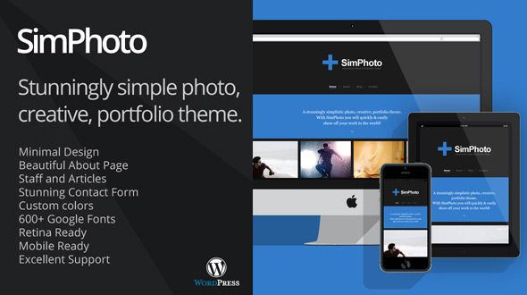 SimPhoto Impressive Minimal Photo WordPress Theme