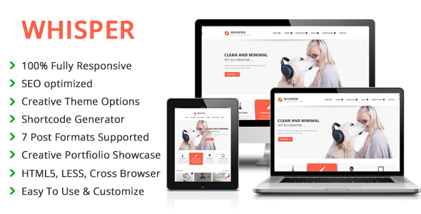 Whisper – Responsive Multi-Purpose WordPress Theme