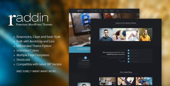 Raddin – Elegant Responsive WordPress Themes