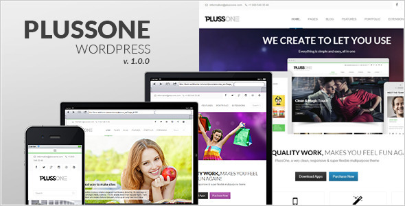 Plussone – Responsive WordPress Business Template