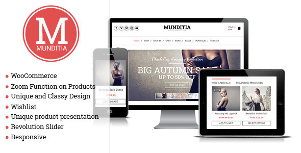 Munditia – Responsive Ecommerce WordPress Theme