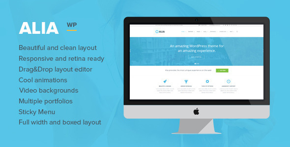 Alia – Responsive Multi-Purpose WordPress Theme