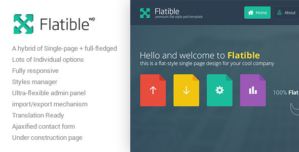 Flatible – Single Page WordPress Theme