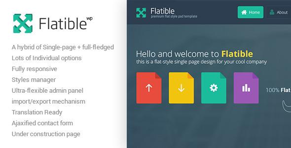Flatible – Single Page WordPress Theme