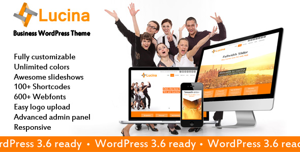 Lucina – multipurpose WordPress theme