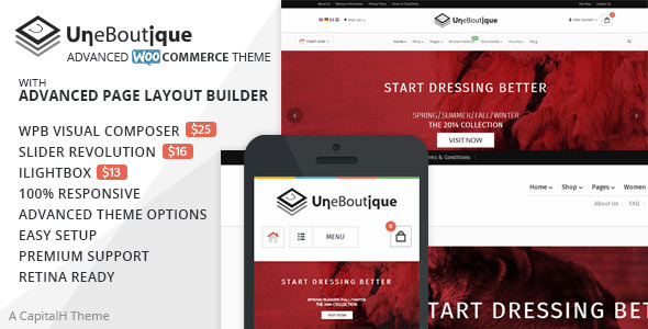 Une Boutique – Advanced WooCommerce Theme
