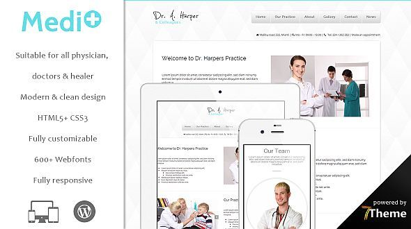 Mediplus – a WordPress Theme for Doctors and Medics