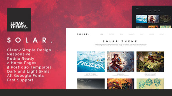 Solar – WordPress Portfolio Theme
