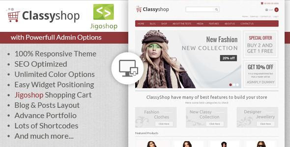 ClassyShop – WordPress Jigoshop Theme