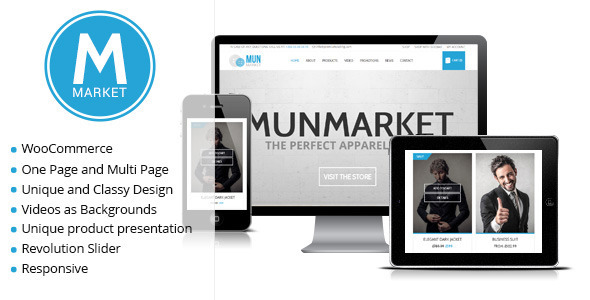 Munmarket – A One and Multi Page Ecommerce Theme