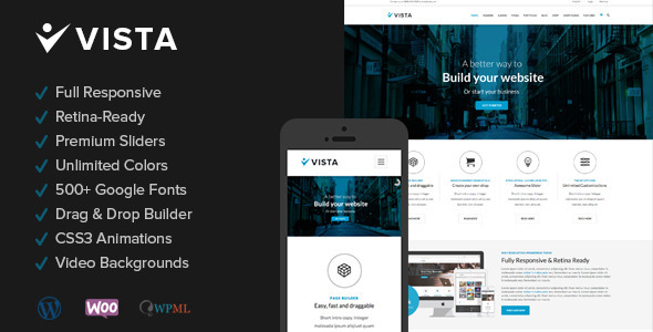 Vista – Responsive Multi-Purpose WordPress Theme