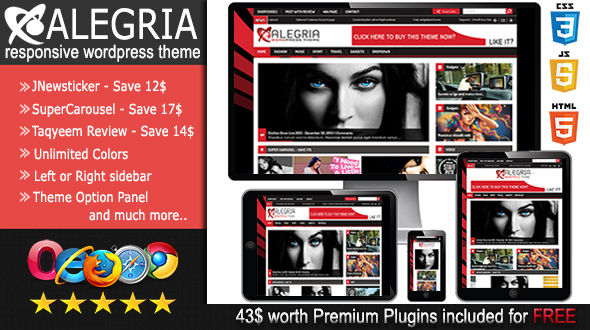 Alegria responsive wordpress theme