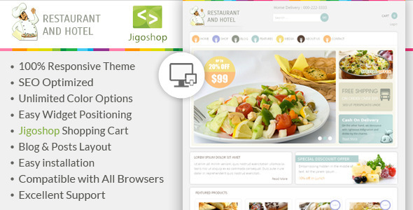 Restaurant – WordPress Jigoshop Theme