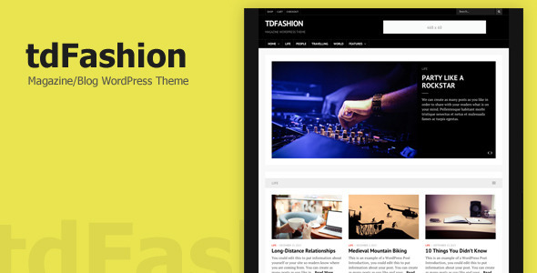 tdFashion – WordPress Theme
