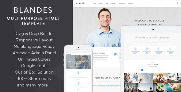 Blandes is Clean , Creative and Multipurpose wordpress theme