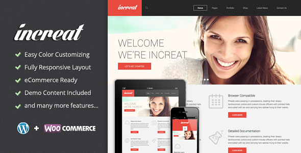Increat – Responsive Multi-Purpose Theme